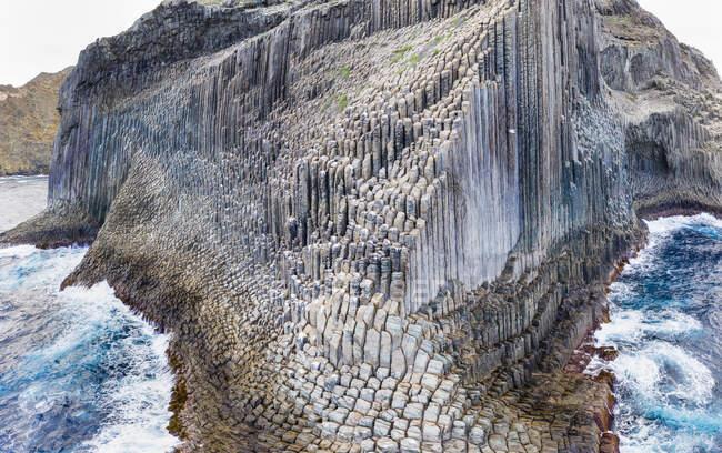 Espagne, Îles Canaries, La Gomera, Vallehermoso, Formation rocheuse de basalte Los Organos, Pipe d'orgue Rock — Photo de stock