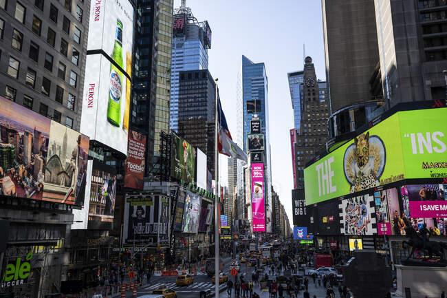 США, Нью - Йорк, Таймс Сквер — стокове фото