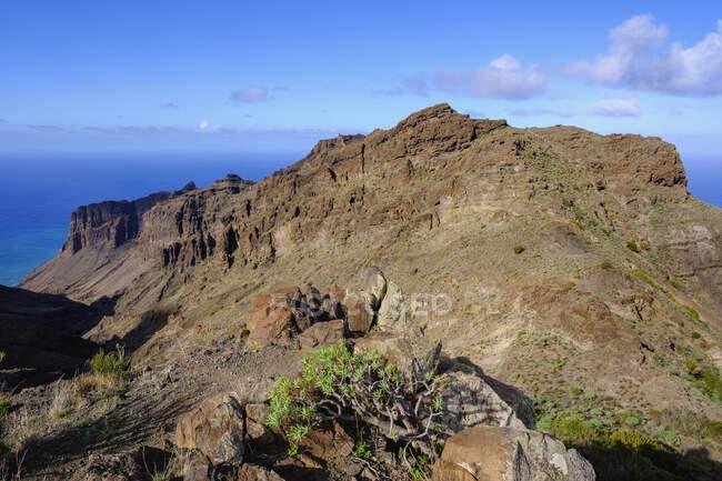 Espagne, Santa Cruz de Tenerife, Taguluche, Barranco de Guaranel et Tejeleche Range — Photo de stock