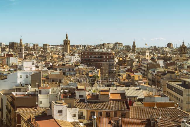 Вид на центр міста згори, Валенсія (Іспанія). — стокове фото