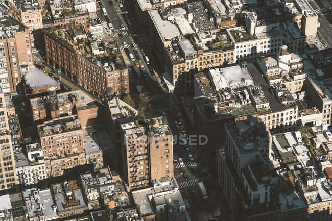 USA, New York, New York, Aerial view of Manhattan — стокове фото