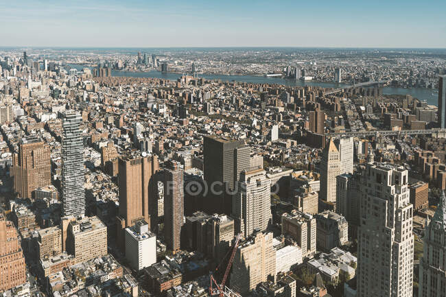 USA, New York, New York City, Aerial view of Manhattan — Stock Photo