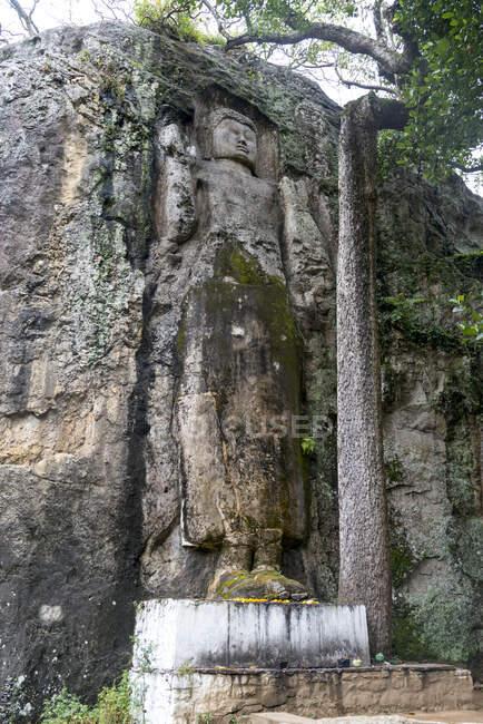 Sri Lanka, Provincia di Uva, Dowa, Esterno del tempio con Buddha — Foto stock