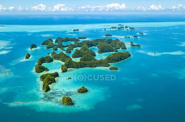 Palau, Veduta aerea delle Settanta Isole — Foto stock