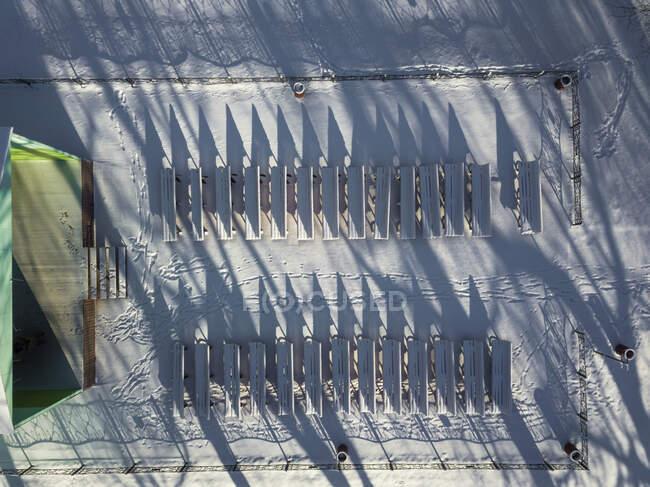 Rusia, San Petersburgo, Vista aérea del escenario al aire libre en invierno - foto de stock