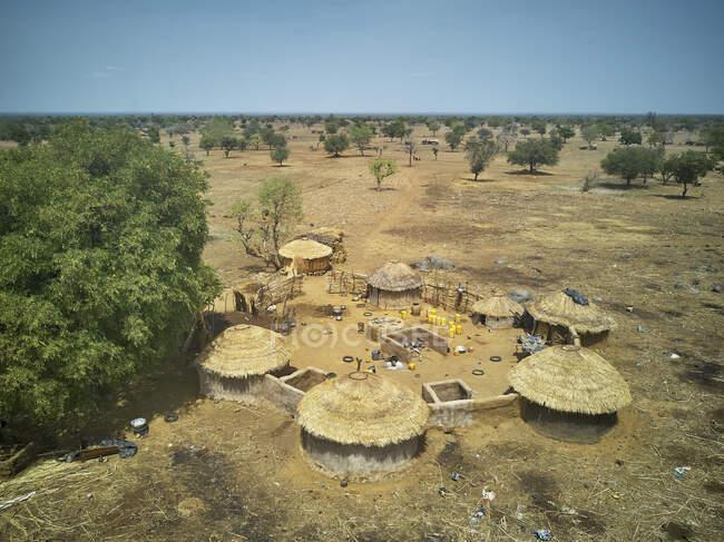 Burkina Faso, Fada NGourma, Veduta aerea del piccolo villaggio — Foto stock