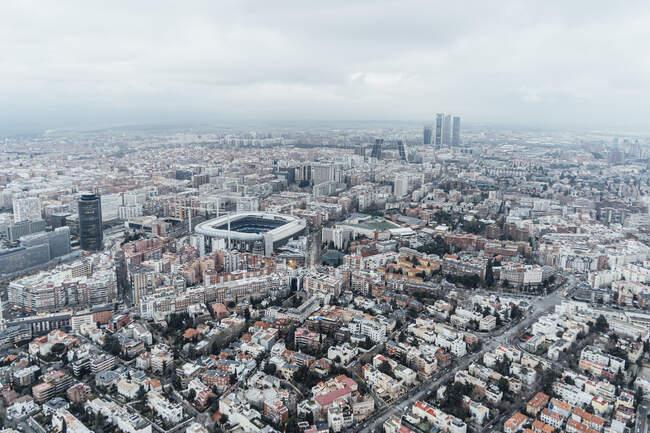 Мадрид (Іспанія) Повітряний вид на місто — стокове фото