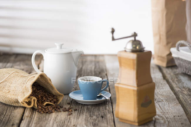 Germany, Upper Bavaria, Bavaria, Coffee still life — Stock Photo