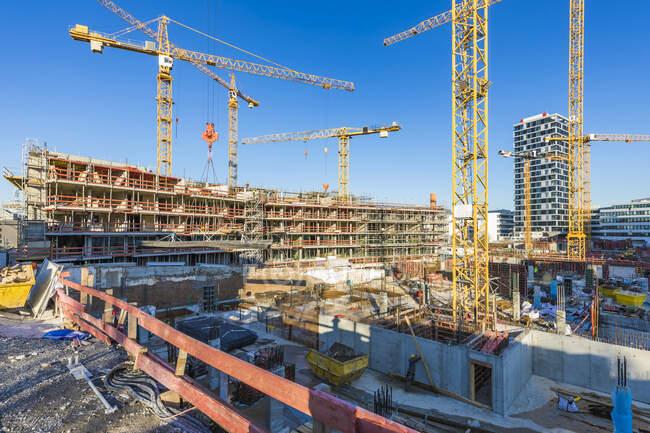 Німеччина, Баден-Вуртемберг, Штутгарт, будівельний майданчик багатоквартирних будинків — стокове фото
