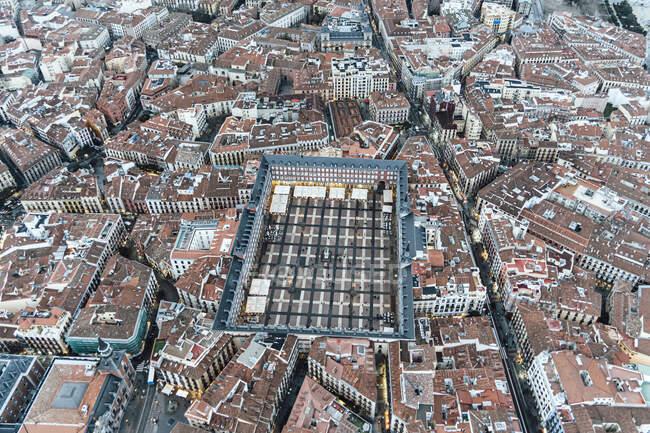 Мадрид (Іспанія) Повітряний вид на місто і майора Пласа — стокове фото