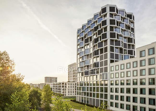 Moderno edificio residenziale a Monaco di Baviera, Germania — Foto stock