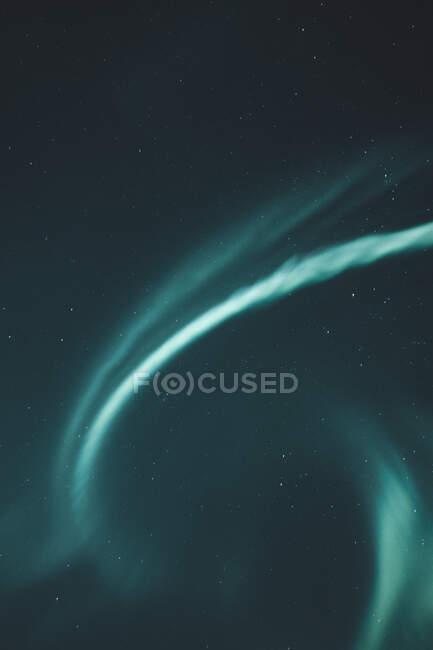 Luces boreales en el cielo, Noruega - foto de stock