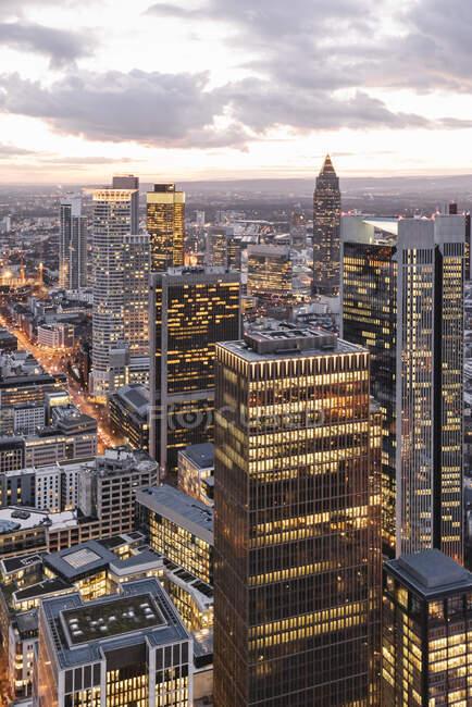 Vista aérea de la ciudad de Londres, Reino Unido - foto de stock