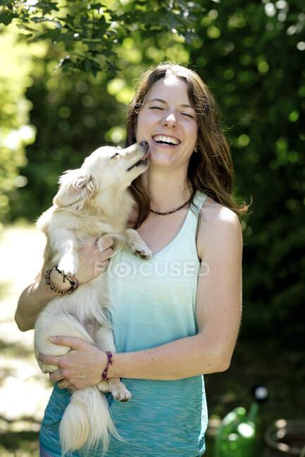 Young Teen Dog Lick