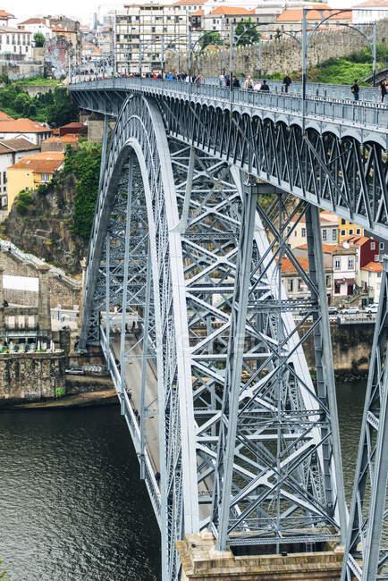 Portogallo, Porto, Luiz I Ponte e fiume Duoro — Foto stock