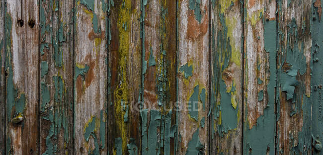 Close-up of old weathered wooden wall — Stock Photo