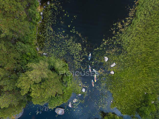 Вид з повітря на берег ріки Вуокі. — стокове фото