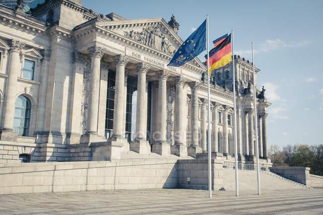 Alemania, Berlín, Fachada del Reichstag - foto de stock