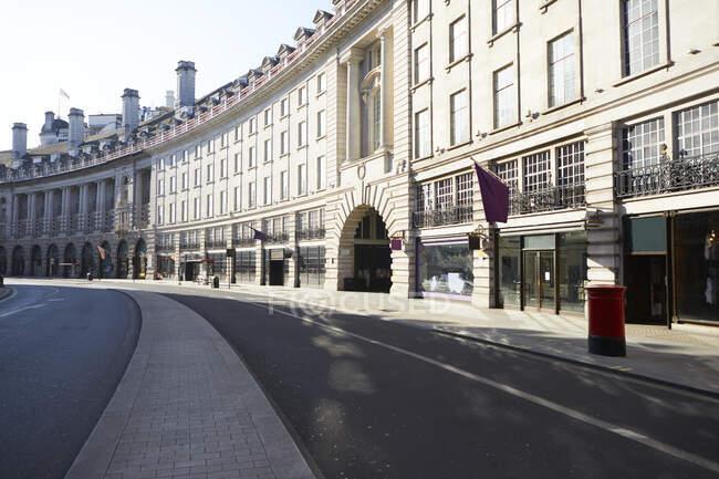 Reino Unido, Inglaterra, Londres, Hydrant en la vacía Regent Street - foto de stock