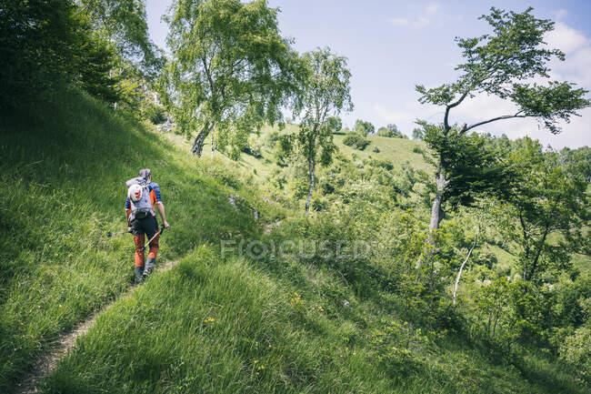 Bergwanderer, Orobie, Europäische Alpen, Como, Italien — Stockfoto