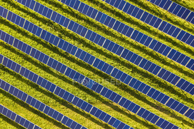 Aerial view ofsolar power station — Stock Photo
