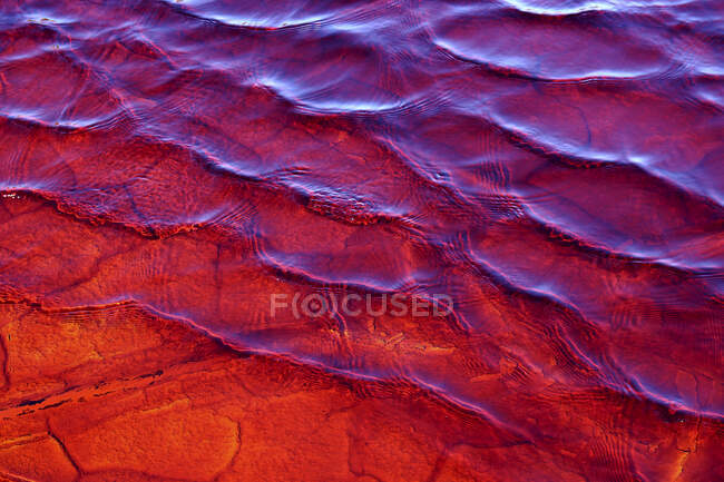 Red waters of the Rio Tinto, coloured by dissolved minerals, primarily iron — Stock Photo