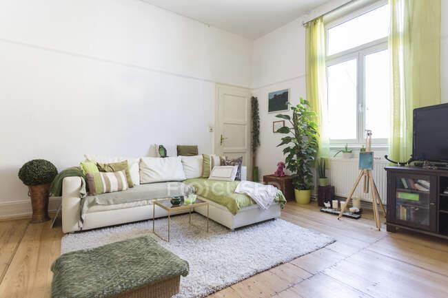Sala de estar de acogedor apartamento - foto de stock