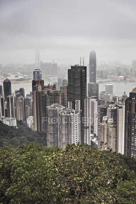Skyline di Hong Kong da Victoria Peak, Hong Kong, Cina — Foto stock