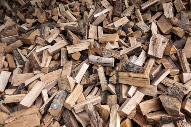 Large heap of firewood — Stock Photo