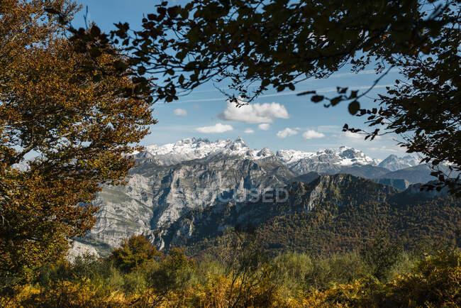 Picos de Europa gamma in autunno — Foto stock