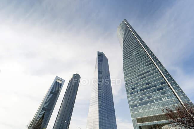Spagna, Madrid, Grattacieli alti e moderni — Foto stock