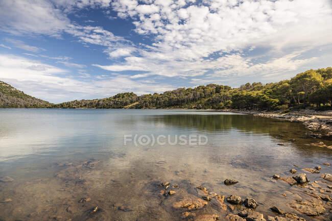 Hermoso paisaje en el lago. - foto de stock
