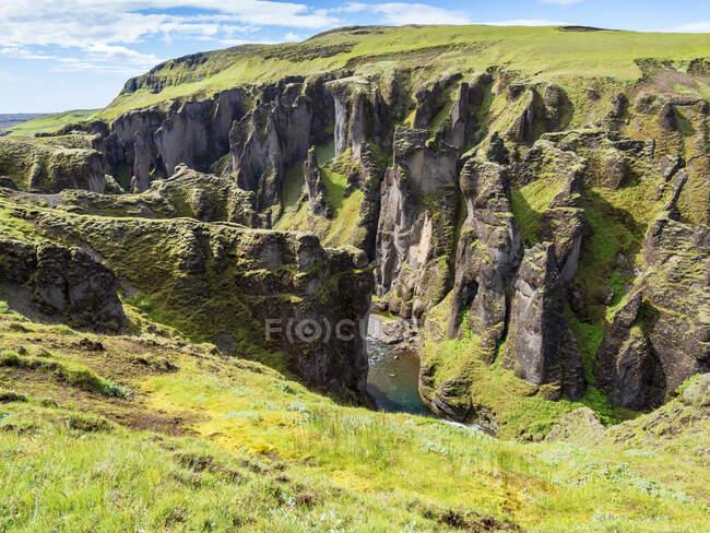 Vista panoramica del canyon di Fjadrargljufur — Foto stock