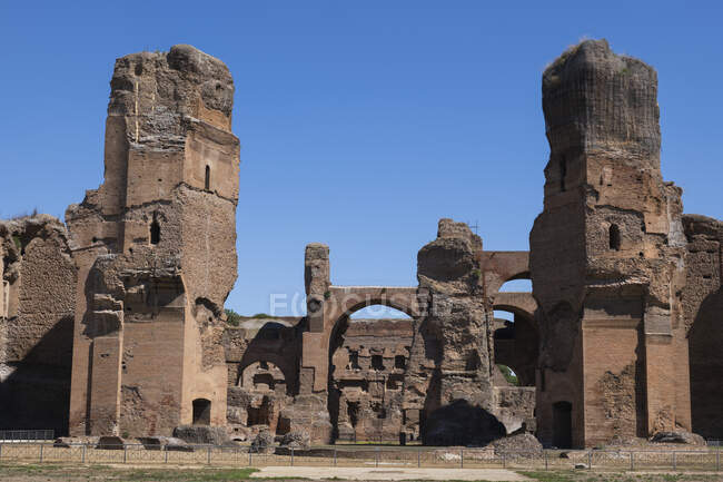 Italia, Roma, Terme di Caracalla rovine — Foto stock
