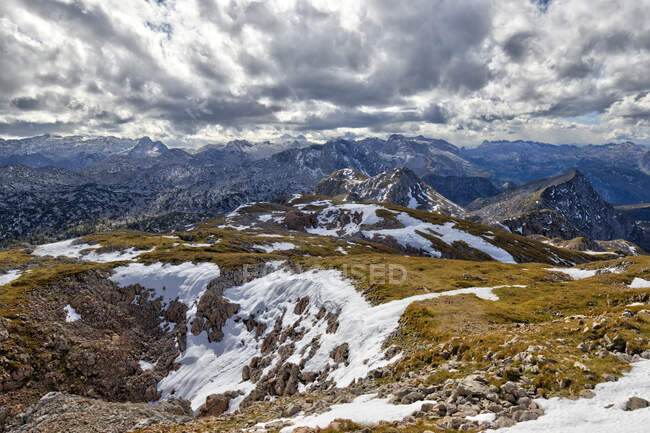 Scenic view of mountain range at Windscharte, Austria — Stock Photo