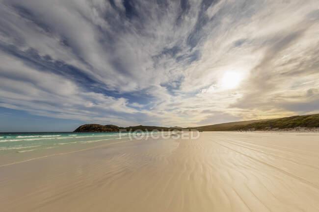 Spiaggia di sabbia al tramonto, Australia Occidentale — Foto stock