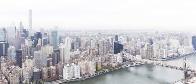 USA, New York, New York City, Ed Koch Queensboro Bridge and Midtown, high angle view — Stock Photo