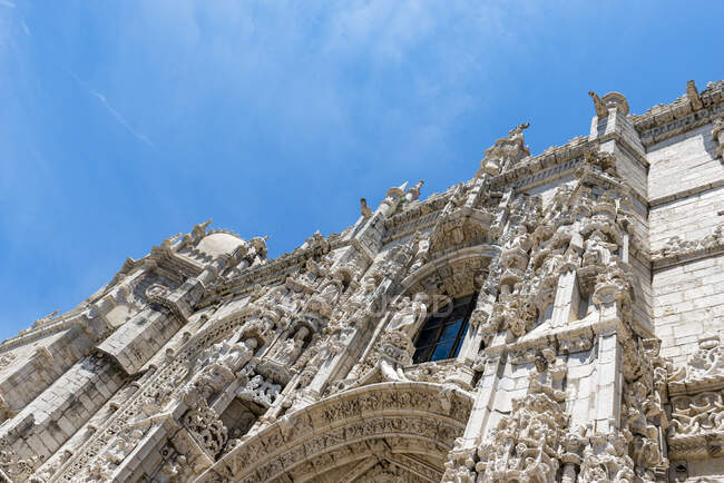 Португалія, Лісабон, фасад монастиря Джернімос — стокове фото