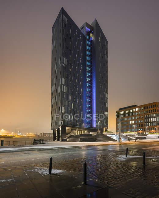 Німеччина, Гамбург, Крістал Тауер на світанку — стокове фото