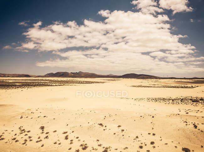 Вид с воздуха на пустыню в Фуэртевентуре — стоковое фото
