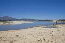 Засухи пострадавших пейзаж в окрестностях Западный Кейп в Южной Африке — стоковое фото