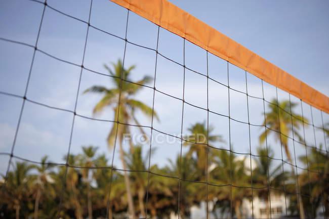 Чистый пляжный волейбол — стоковое фото
