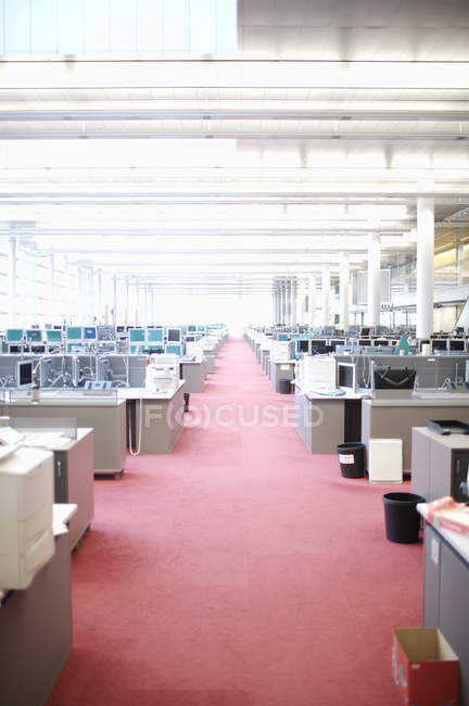 Interior of empty open space office room — Stock Photo