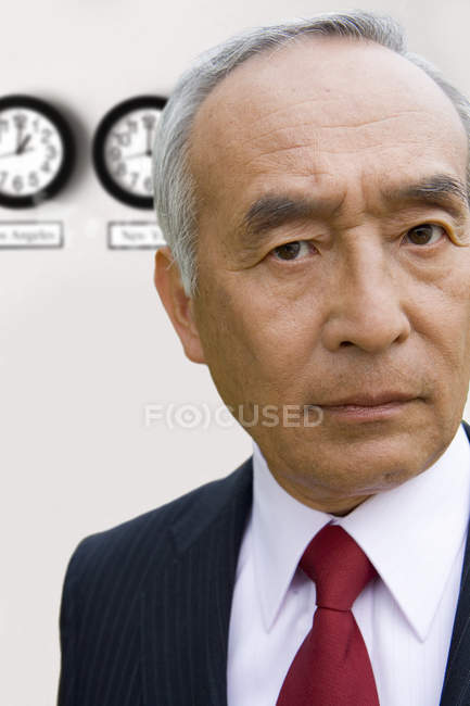 Front view of businessman looking at camera — Stock Photo
