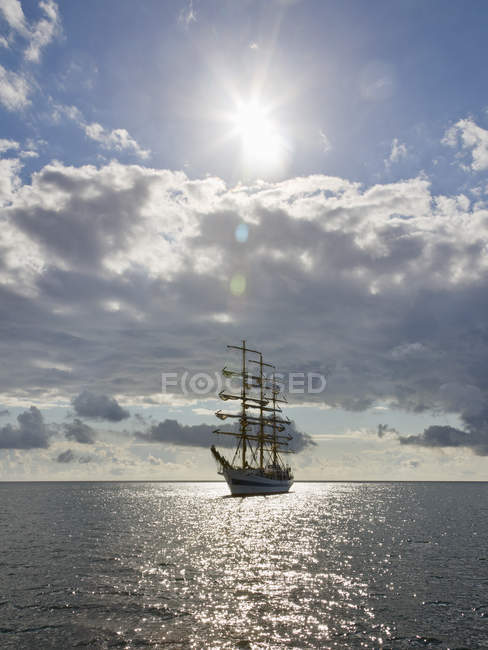 Baltic Sea, full rigged ship, Ruegen, Mecklenburg-Western Pommerania, Germany — Stock Photo