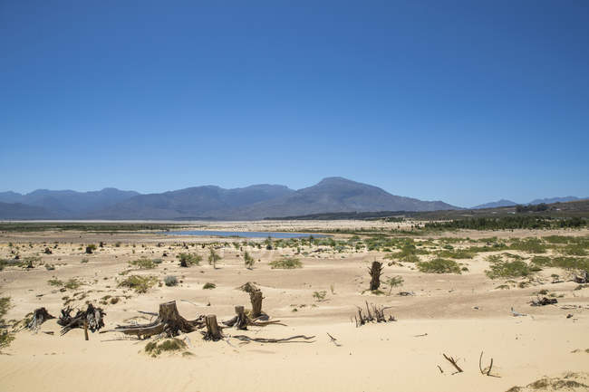 Drought Stricken Landscape In Theewaterskloof Dam Area Of Western Cape In South Africa — Stock Photo