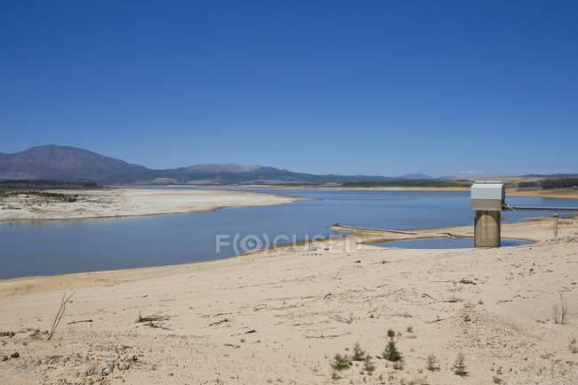 Sécheresse, ce pays dévasté par le paysage dans la région de Western Cape en Afrique du Sud — Photo de stock