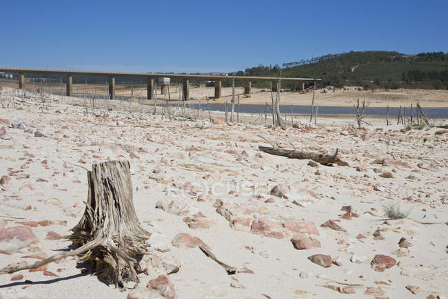 Drought Stricken Landscape In  Area Of Western Cape In South Africa — Stock Photo
