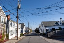 Residential street in Plymouth, Massachusetts, USA — Stock Photo
