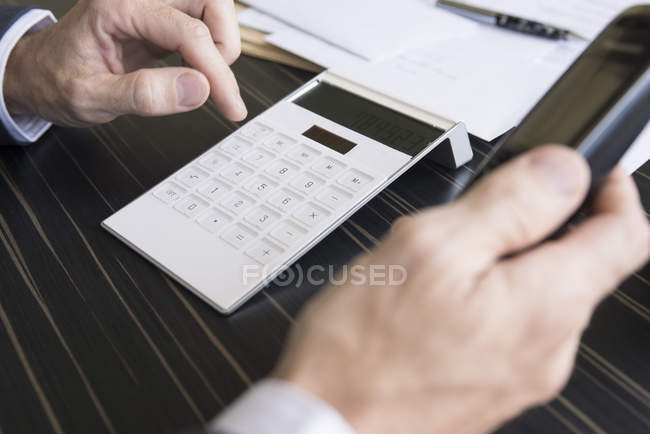 Businessman concerned about corporate finances — Stock Photo